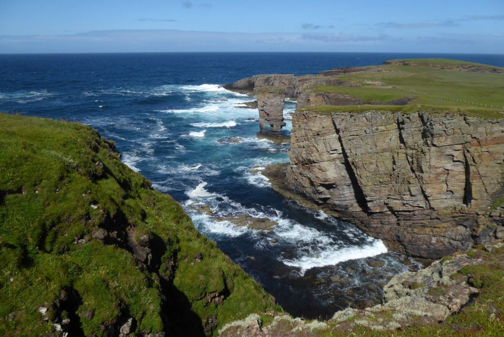 Cliffs and sea, Orkney